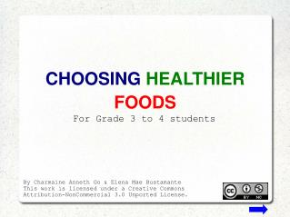 CHOOSING HEALTHIER FOODS