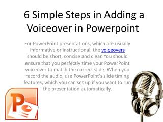6 Simple Steps in Adding Voiceover in Powerpoint