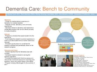 Dementia Care: Bench to Community