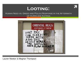 Looting: