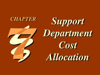 Support Department Cost Allocation