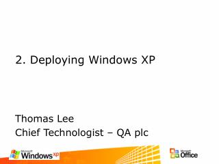 2. Deploying Windows XP
