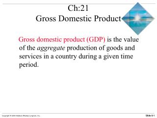 Ch:21 Gross Domestic Product