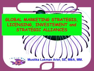 GLOBAL MARKETING STRATEGIS, LICENSING, INVESTEMENT and STRATEGIC ALLIANCES