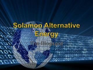 Solamon Alternative Energy - Blogspot