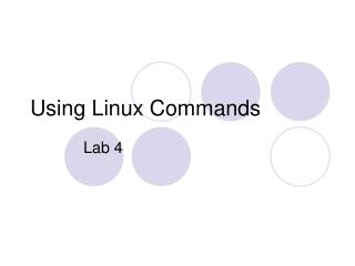 Using Linux Commands