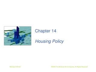 Chapter 14 Housing Policy