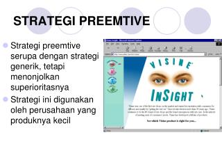 STRATEGI PREEMTIVE