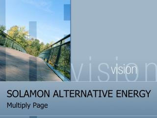SOLAMON ALTERNATIVE ENERGY - Multiply Page
