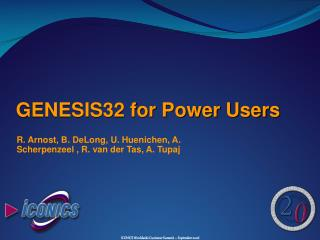GENESIS32 for Power Users