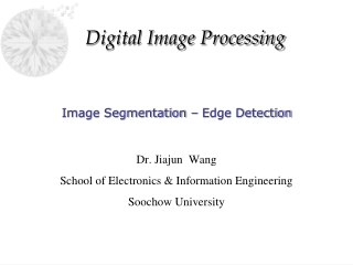 Image Segmentation – Edge Detection