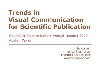Trends in Visual Communication for Scientific Publication