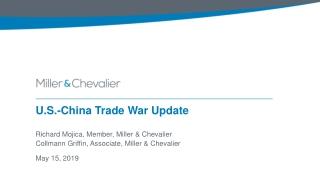 U.S.-China Trade War Update