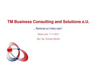 TM Business Consulting and Solutions