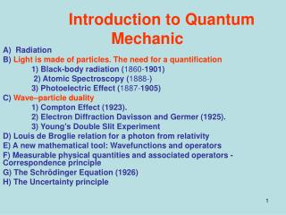 Introduction to Quantum Mechanic