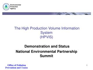 The High Production Volume Information System (HPVIS)