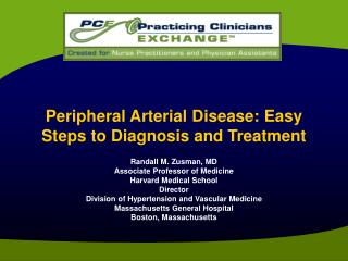 Peripheral Arterial Disease: Easy Steps to Diagnosis and Treatment