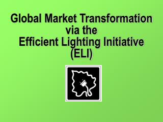 Global Market Transformation  via the  Efficient Lighting Initiative (ELI)