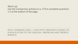 Brinton's Model of Revolutions - England