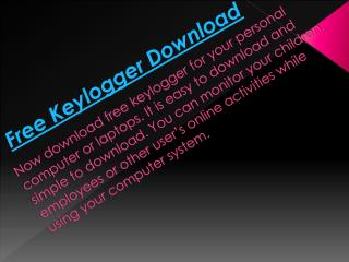 Download Free Keylogger Software