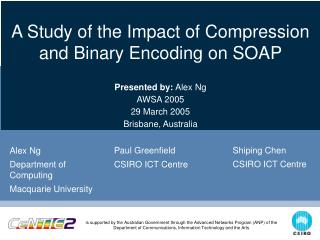 A Study of the Impact of Compression and Binary Encoding on SOAP