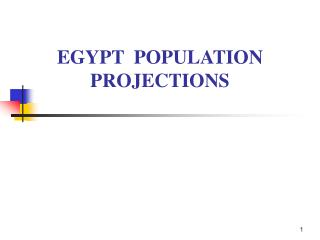 EGYPT  POPULATION PROJECTIONS
