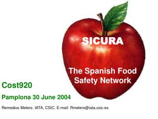 SICURA The Spanish Food Safety Network