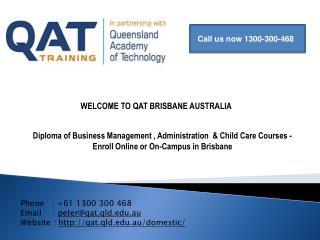 Online Courses in Brisbane, Australia by QAT
