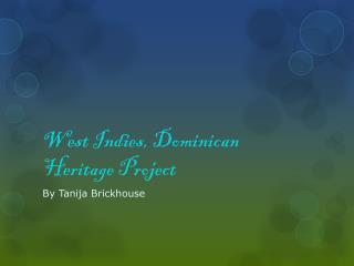 West Indies, Dominican Heritage Project