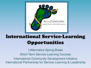 International Service-Learning  Opportunities