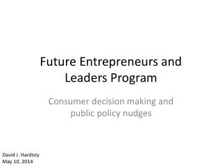 Future Entrepreneurs and Leaders Program