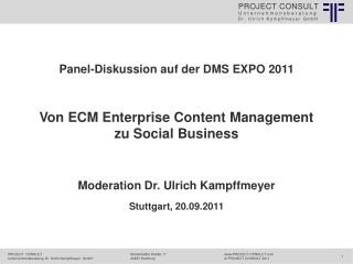 Von ECM Enterprise Content Management  zu  Social Business