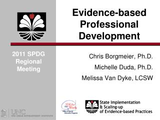 Evidence-based Professional Development