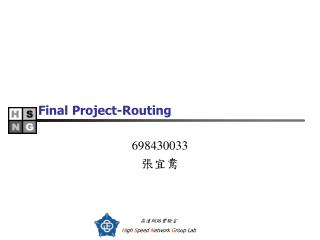 Final Project-Routing