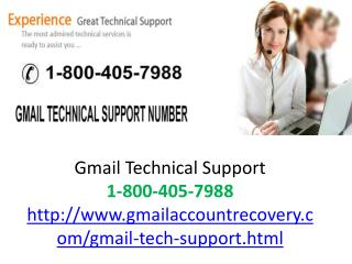 Gmail technical 1-800-405-7988 support number