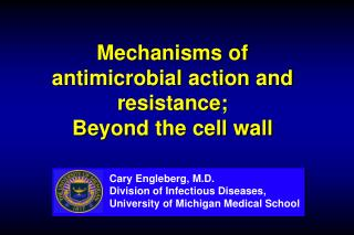 Mechanisms of antimicrobial action and resistance;  Beyond the cell wall