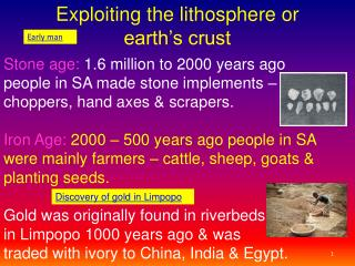 Exploiting the lithosphere or                        earth's crust
