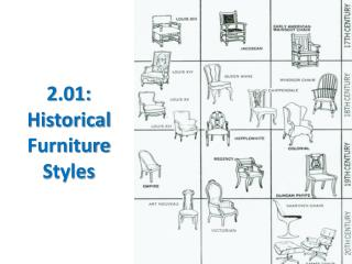 2.01: Historical Furniture Styles