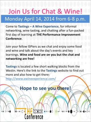 Join Us for Chat & Wine!