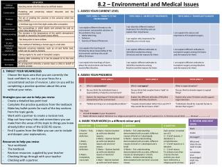 8.2 – Environmental and Medical Issues