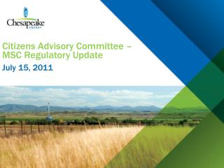 Citizens Advisory Committee   MSC Regulatory Update
