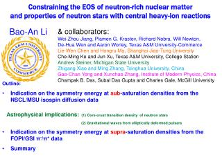 Constraining the EOS of neutron-rich nuclear matter and properties of neutron stars with central heavy-ion reactions
