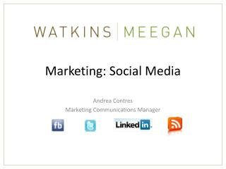 Marketing: Social Media