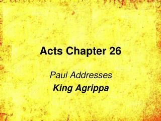 Acts Chapter 26