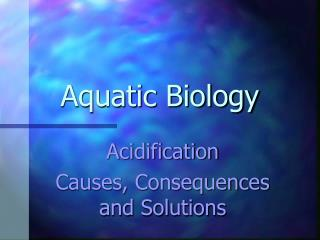 Aquatic Biology