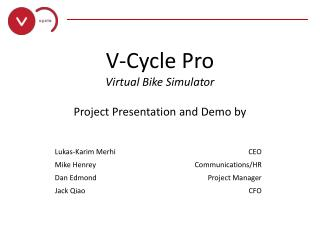 V-Cycle Pro Virtual Bike Simulator Project Presentation and Demo by
