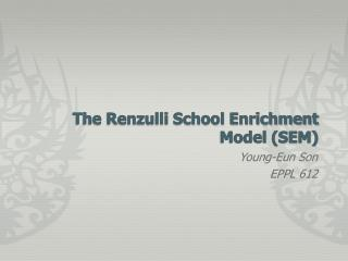 The Renzulli School Enrichment Model (SEM)