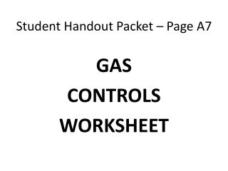 Student Handout Packet – Page A7