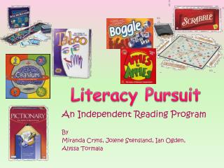 An Independent Reading Program  By Miranda  Cryns , Jolene  Stensland , Ian Ogden,
