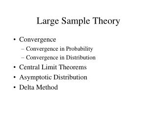 Large Sample Theory